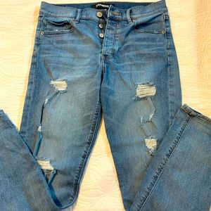Express distressed mom jeans